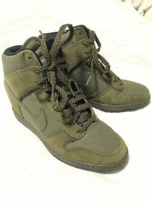 the best attitude db2e6 dea70 ... discount code for nike dunk sky hi wedge essential rough green 644877  302 women size 7