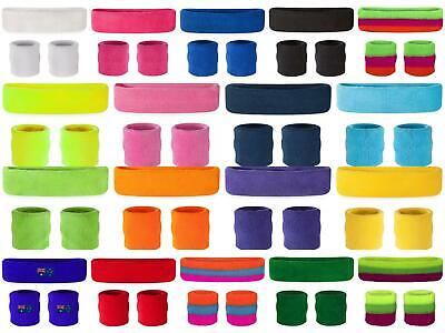 Sweatbands Wristbands Headband Sweat Band for Sport Tennis Badminton Yoga Cotton
