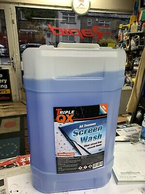 TRIPLE QX  WINTER Screen Wash  25 LTR Concentrated screen wash 15 BELOW x