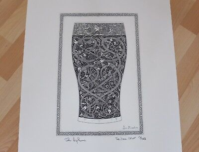 """Lithographic Print Of """"The Dark Stuff"""". Tribal/Celtic."""