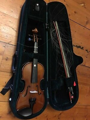 1/4 CHILD'S BEGINNER'S VIOLIN STENTOR STUDENT ST with case & rosin