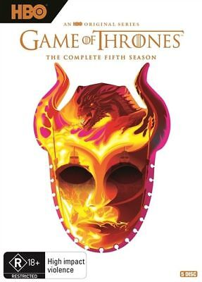 Game Of Thrones : Season 5 (DVD, 2018, 5-Disc Set), NEW SEALED AUSTRALIAN