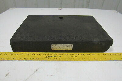 "Standridge Black Granite Surface Inspection Plate 18"" X 12"" X 3"" W/1"" Thru Hole"