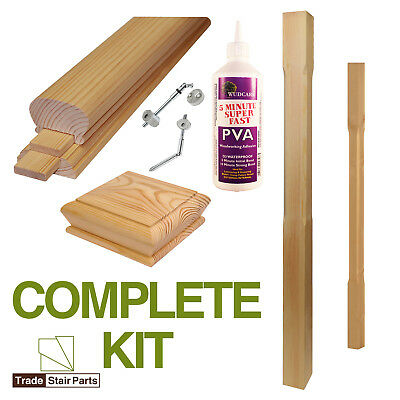 STAIRCASE KIT - LOWER BANNISTER - 3.6 metres - Post to Post - Modern – PINE