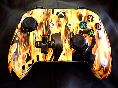 *Custom Hydro Dipped Licking Flames Xbox One S Bluetooth Wireless Controller*