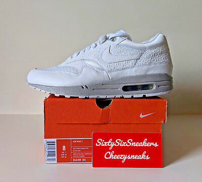 uk availability 3ec0b 8f908 Nike Air Max 1 Powerwall White US8 UK7 EU41 New DS OG ALL