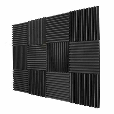 12 Pack- Acoustic Panels foam Engineering sponge Wedges Soundproofing Panel G06