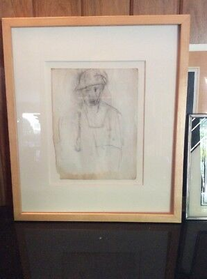 Authentic Original Joan Mitchell Drawing, Framed, Very Rare