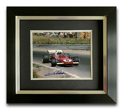 Mario Andretti Hand Signed Framed Photo Display - Ferrari - Formula 1.