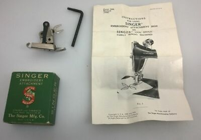 Vintage Singer Simanco 26532 26538 Embroidery Attachment, box and instructions