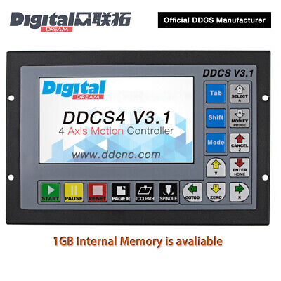 Digital Dream 4 Axis CNC Standalone/Offline Motion Controlle DDCS4 V3.1 DDCSV3.1