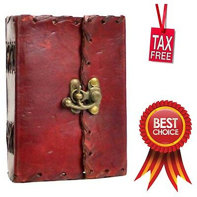 Small Pocket Poetry Leather Cover Blank Book Notebook Diary Journal Writing Pad