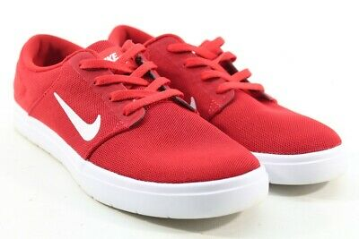 Nike SB Portmore Ultralight Men s University Red White Gym Red Skate Shoes  6M f0676a7d8a