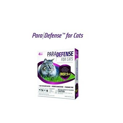 ParaDefense for Cats Over 9 lbs Flea Protection 4 Month Supply