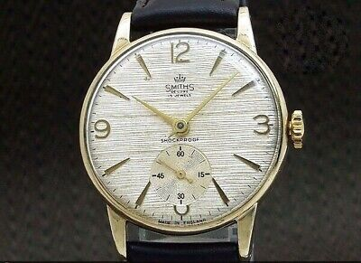 SMITHS Deluxe 9K Gold pure Small Second hand Winding Vintage Watch 1950's