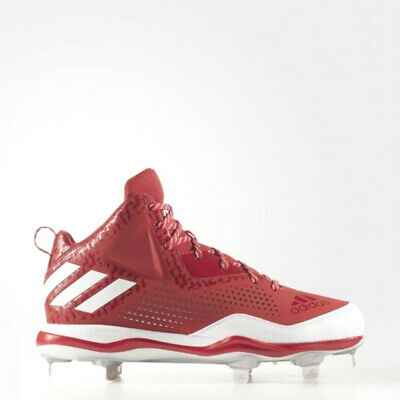 cheap for discount 69be8 23f3b Nouveau Homme Adidas Poweralley 4 mi Baseball Métal Cale Rouge Blanc