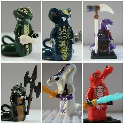 Ninjago Serpentine,Snake,Pythor,Skales,Acidius Toy Mini Figures use with lego