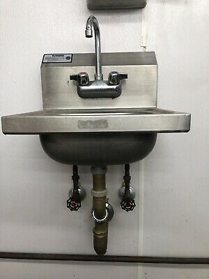 Krowne HS-2 Commercial Stainless Steel Hand Wash Washing Wall Mount Sink