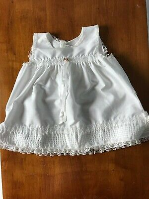 Vintage Her Majesty baby girl slip white lace 18 mo