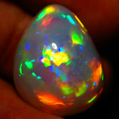 34.45 Ct Extremely Bright  Beautiful Flashy Multi Color Welo Ethiopian Opal-Aa4