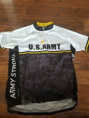 NWT US ARMY CYCLING JERSEY PRIMAL WEAR MENS Medium Bike shirt w pockets 9dd3ff129