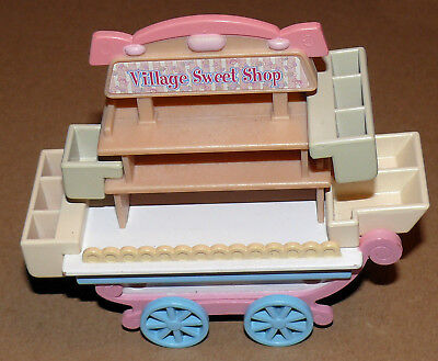 village sweet shop - Mobile Sylvanian Family Sweet Shop with Multiple Trays