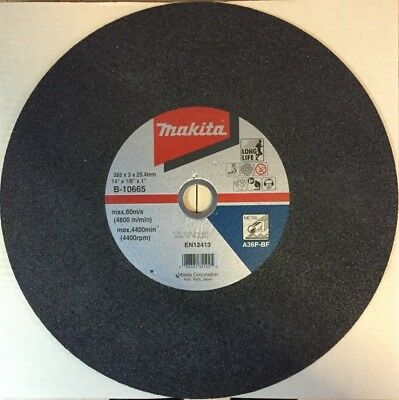 """CLEARANCE MAKITA B-10665 355mm (14"""") Metal Cutting Disc (Pack of 5) for 2414EN"""