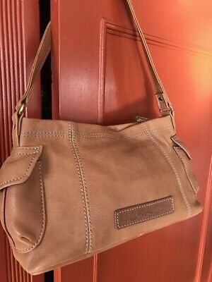 e5ac2cfb711 Fossil Camel Brown Leather Shoulder Purse-- Reconditioned-- Excellent  Condition