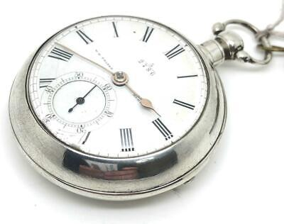 A Rare 1879 Elgin Silver Fusee Pair Case Pocket Watch W D Fraser