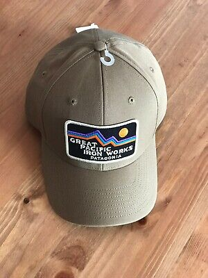PATAGONIA Great Pacific Iron Works 1973 trucker Hat 100% Organic Live Simply 9caf43fdae6