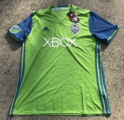 buy popular b89e1 85a96 NEW MENS ADIDAS 2017/2018 Seattle Sounders Soccer Jersey Sz Large NWT