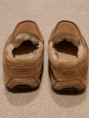 ce5dcec8d3a UGG AUSTRALIA MENS Ascot Slippers House Shoes Slip On Size US 10 Brown  Leather