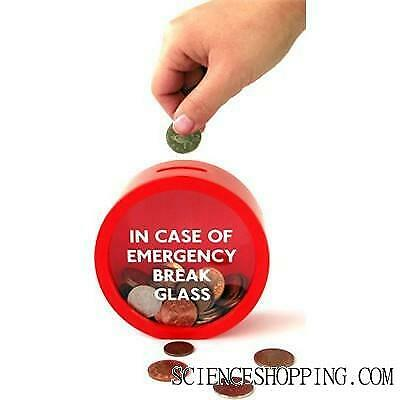 Tirelire Emergency break glass