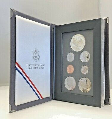 1991 United States Mint Prestige Mount Rushmore Anniversary Coin Set