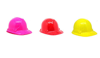12 Pack Construction Party Hat Plastic Costume Kids Child Builder Favours