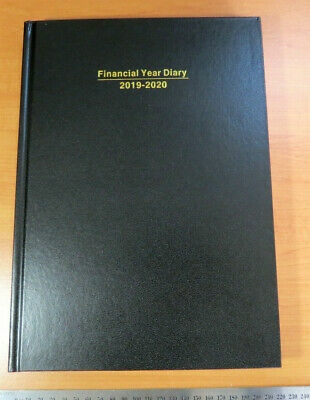 Diary FINANCIAL YEAR 2019/20 A4 Day To Page (incl. weekends) Hardcover Black