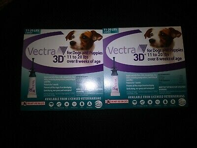 Vectra 3D for Medium Dogs 11-20 lbs Flea and Tick Treatment 6 Months - 6 Doses