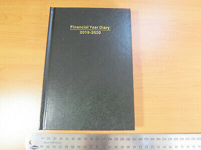 Diary FINANCIAL YEAR 2019/20 A5 Day To Page (incl. weekends) Hardcover Black