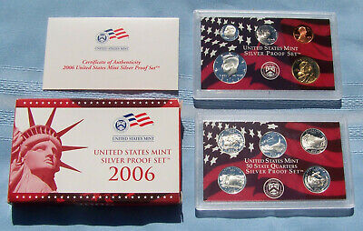 US Mint 2006 Silver Proof Set 10 Coins Includes State Quarters