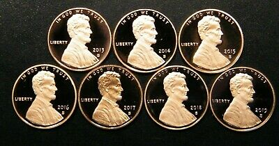 2013 2014 2015 2016 2017 2018 S Lincoln Shield Cent Gem Proof Penny Set