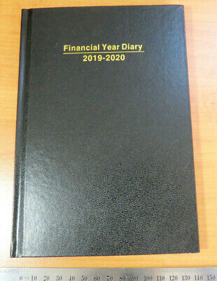 Diary FINANCIAL YEAR 2019/20 A5 Week To View Hardcover Black