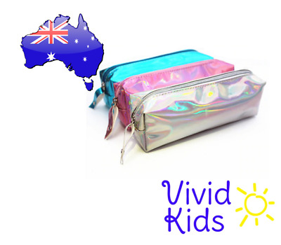 Pencil case or cosmetics bag - laser hologram Christmas gift kids ladies
