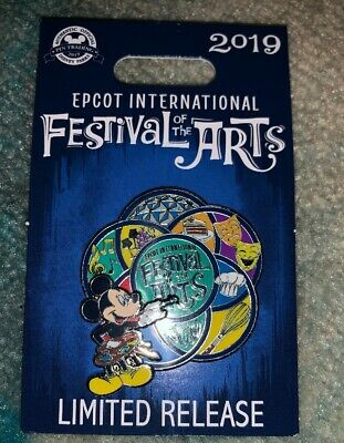 Disney Parks EPCOT 2019 Festival Of The Arts Mickey Mouse Logo Pin