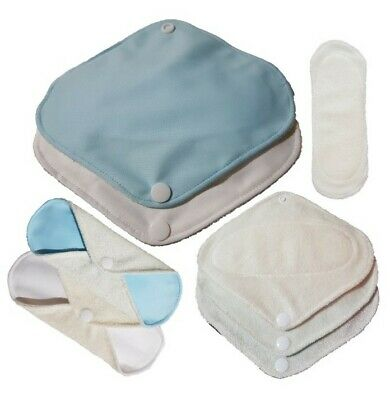 4 Pack Bamboo Cloth Pantiliners Everyday Sanitary Napkin Washable 18cm