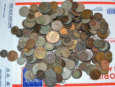 Over 5 LBS. MEXICO COINS worn dirty cull pounds world E foreign Mexican