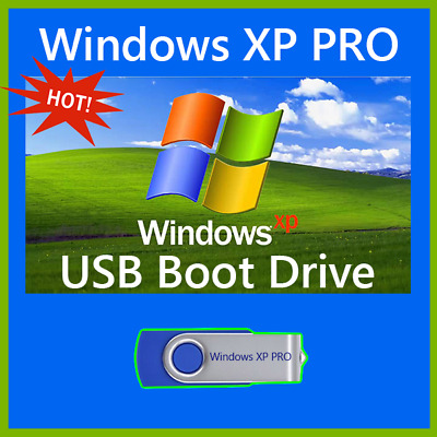Microsoft Windows XP USB Boot Drive PRO/HOME Install Recover Repair Upgrade PC