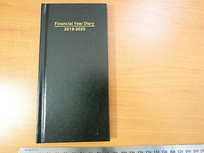 Diary FINANCIAL YEAR 2019/20 SLIM POCKET  Week To View Portrait Hardcover Black