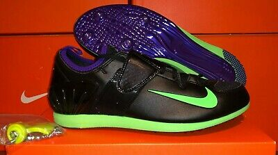 e7fc062c50591 Nike Zoom PV II Pole Vault Track Spikes Bag 317404035 Mens 11 Black Green  Purple