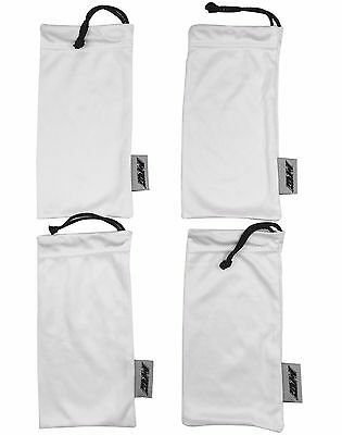 4 Pack Ultra Premium White Microfiber Sunglasses Pouch Soft Cleaning Case USA
