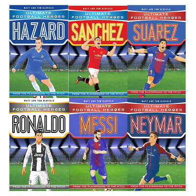 Ultimate Football Heroes Football Collection Series 1 and 2: 6 Books Bundles Gif